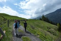 in cammino verso Nivagl